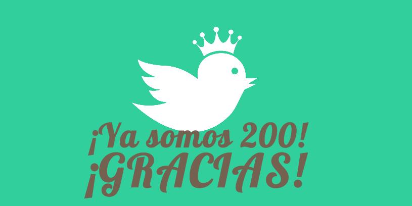 ¡Ya somos 200 en Twitter!