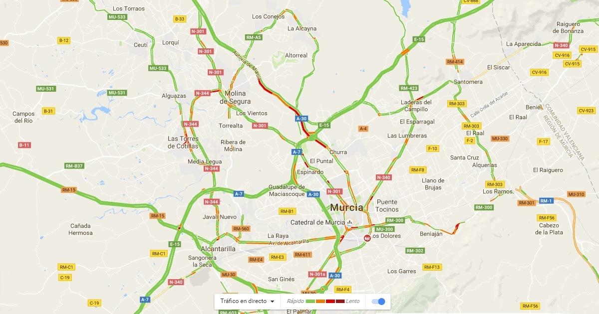 El tráfico a tiempo real