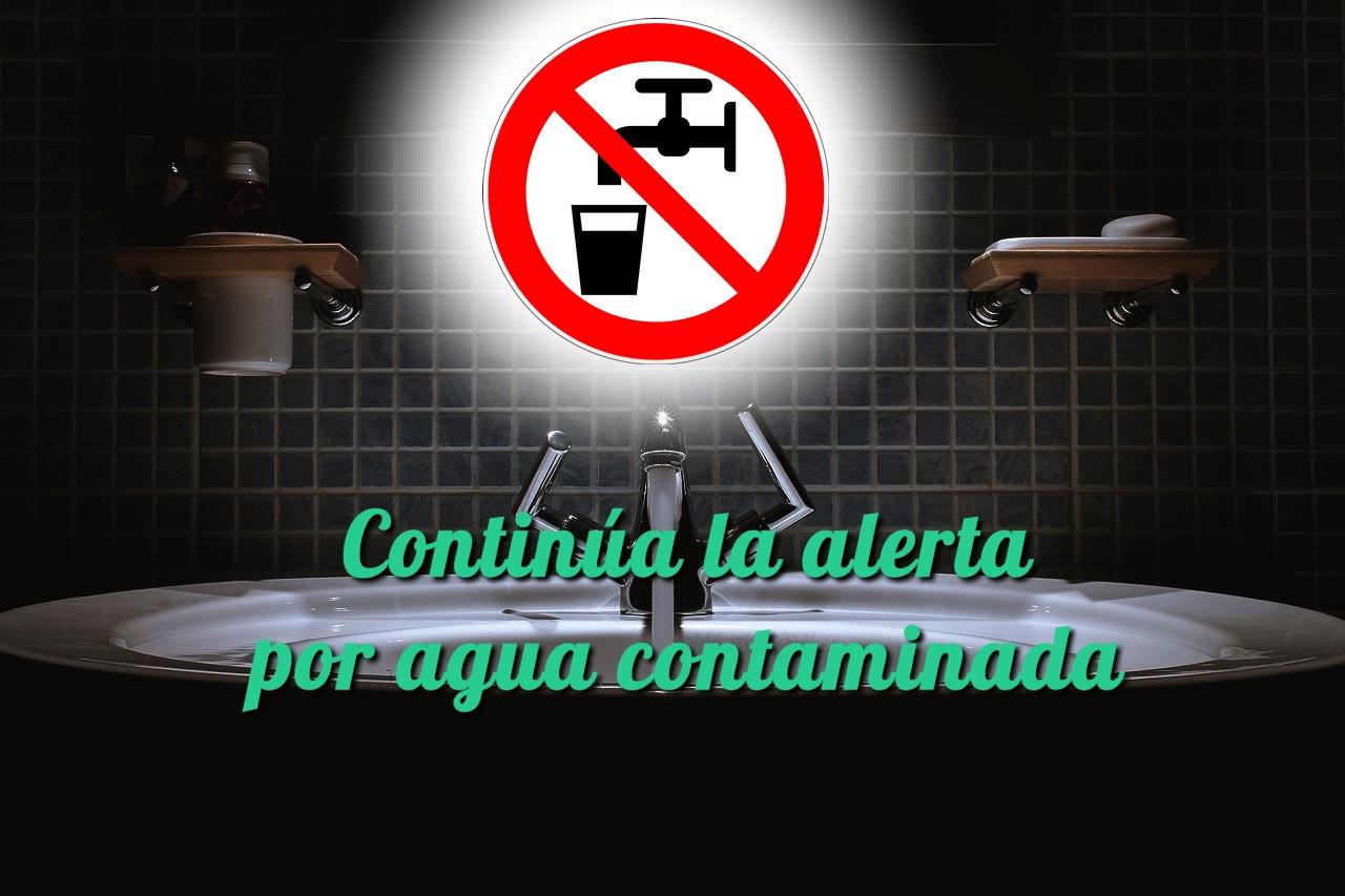 Continúa la alerta por agua contaminada