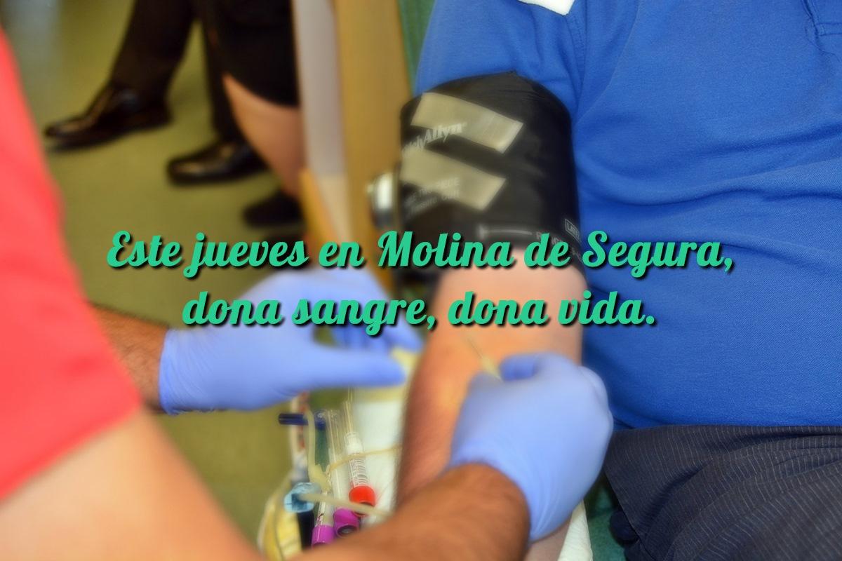 Este jueves en Molina de Segura: dona sangre, dona vida