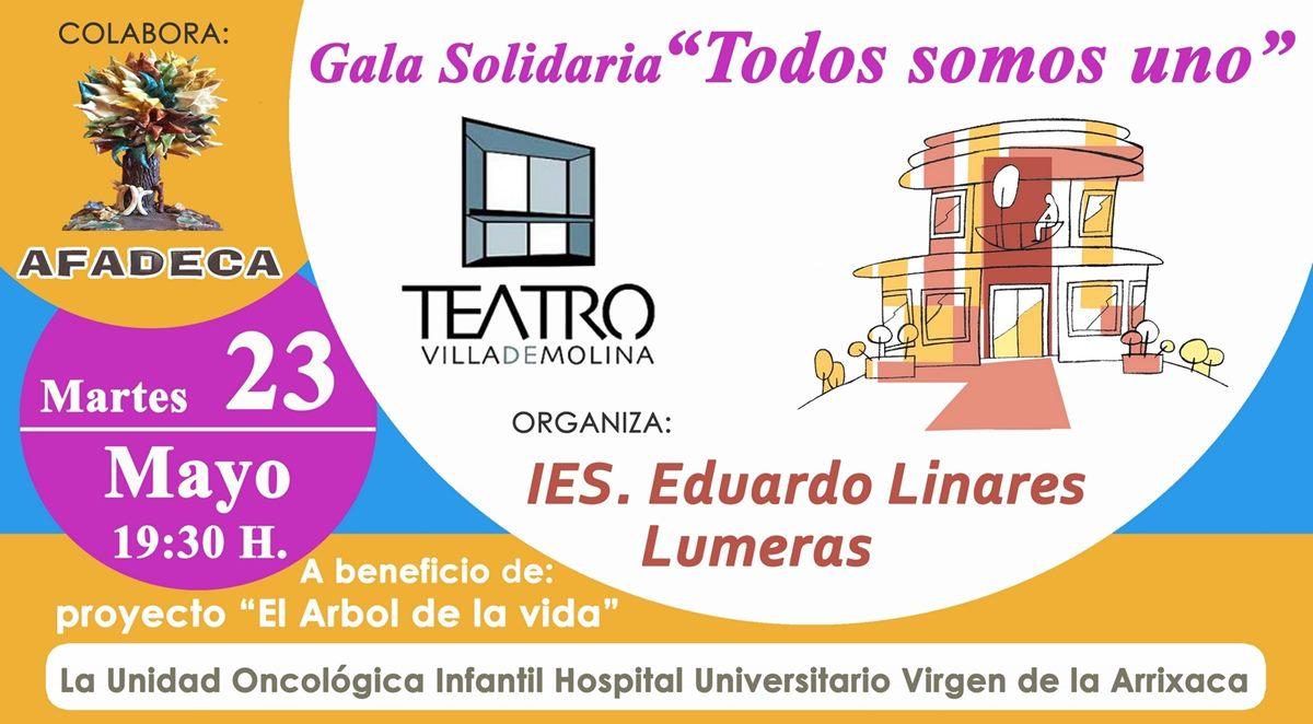 Gran Gala Solidaria el próximo martes 23 de mayo