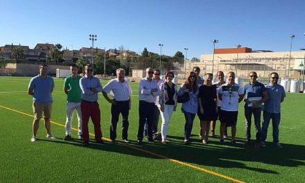 Las obras del campo de fútbol de Altorreal estarán finalizadas este mes