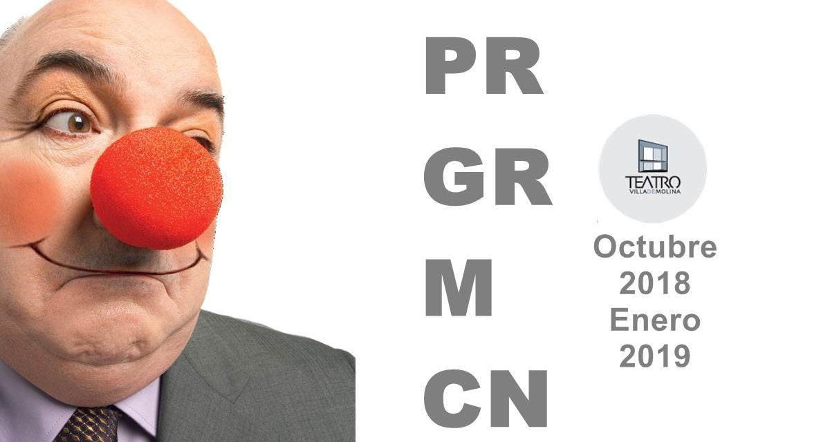 El Teatro Villa de Molina programa 27 espectáculos de octubre de 2018 a enero de 2019